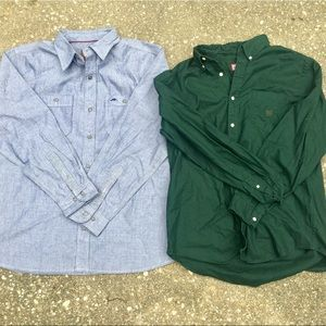 LIKE NEW Men's long sleeve button down polo shirts